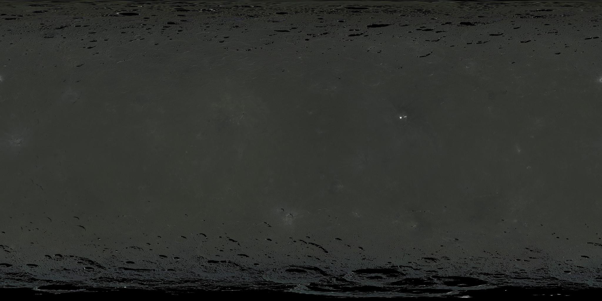 Ceres Albedo Texture Map 21k