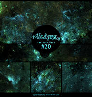 Textures pack #20 - The Dreamy Peacock Galaxy by lune-blanche