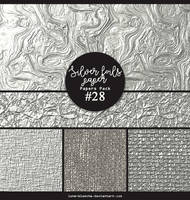 Papers pack #28 - Silver foils papers by lune-blanche