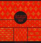Papers pack #29 - Red and gold damask paper