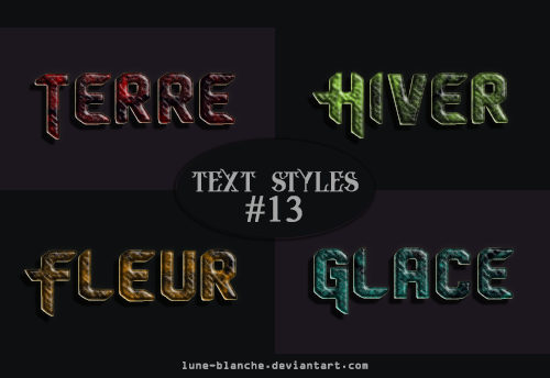 Text Styles #13 by lune-blanche