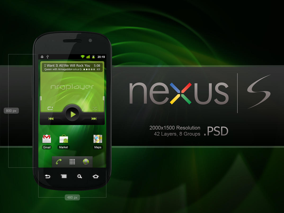 Samsung Nexus S PSD by slaveoffear