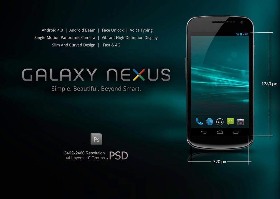 Samsung Galaxy Nexus .PSD by slaveoffear