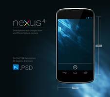 Nexus 4 .PSD by slaveoffear
