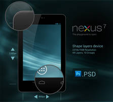 Nexus 7 .PSD by slaveoffear