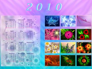 Fractal Calendar 2010 by svet-svet