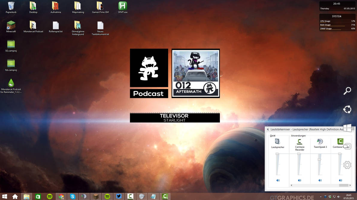 Monstercat Podcast for Rainmeter 1 3 2 by NatroHD on DeviantArt