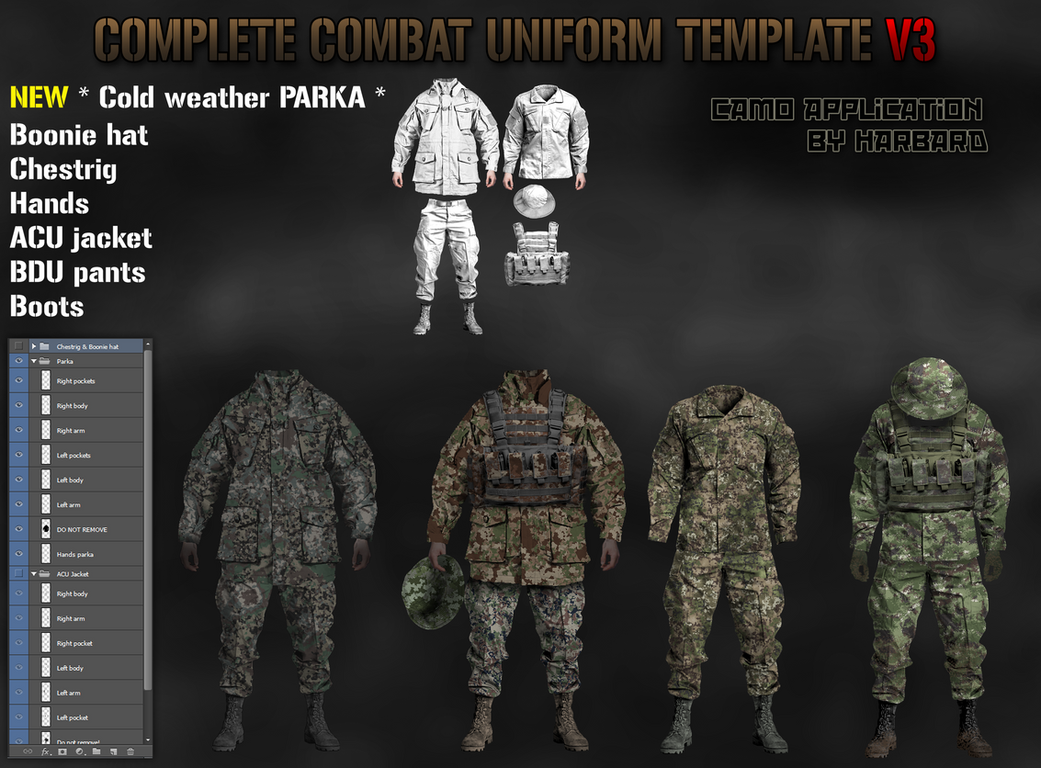 combat uniform template v3 outdated v4 link by harbard1 on