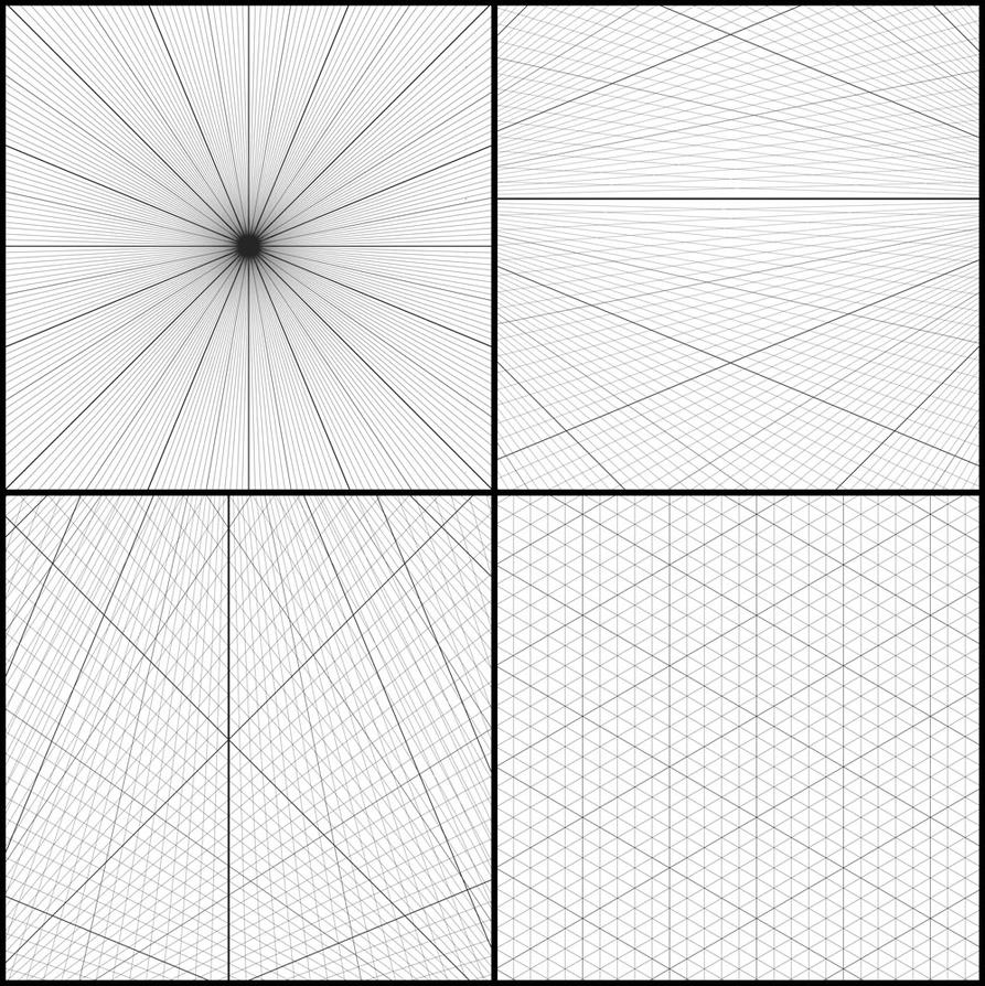 Photoshop Perspective Grid Brushes by adammiconi