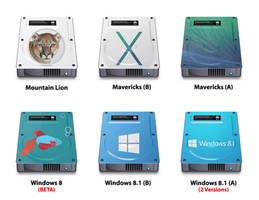 6 HDD Icons by SUPAPUCH