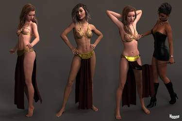 FREEBIE: Slave Leia Outfit by Noone102000