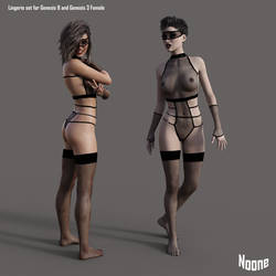 FREEBIE: Lingerie Set for Daz Studio by Noone102000