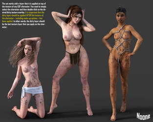 FREEBIE: Dirty Skin Textures for G3F by Noone102000
