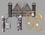 Three fantasy gates