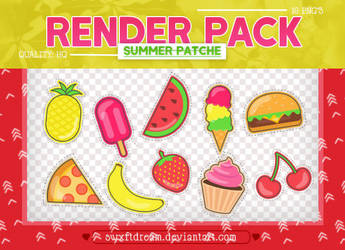 +Summer Patches x Render Pack by swxftdream