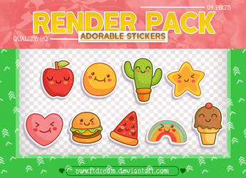 +Adorable Stickers x Render Pack by swxftdream
