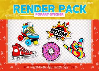+Popart Stickers x Render Pack by swxftdream