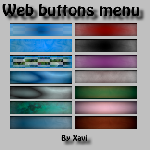 Web menu buttons by xaviermartinezf