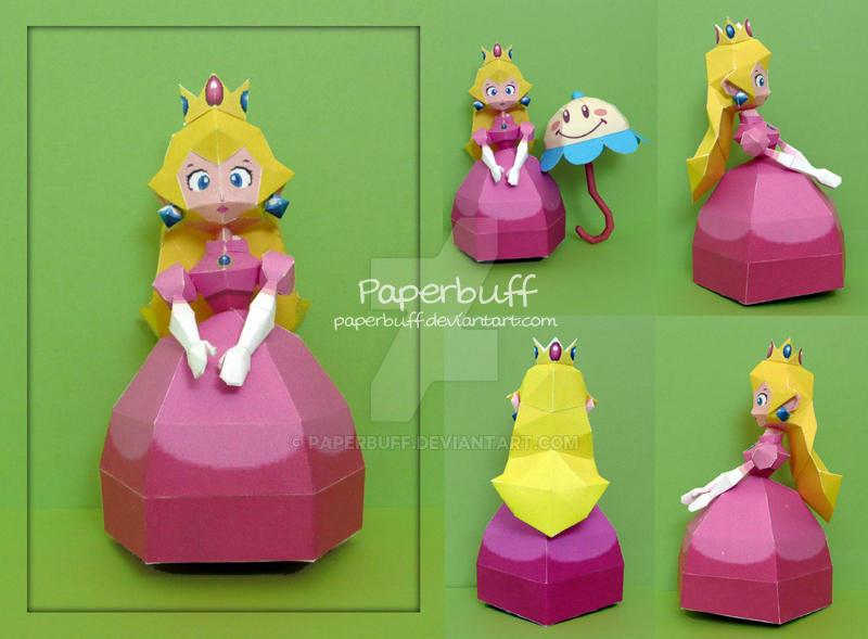 Princess Peach Papercraft by PaperBuff