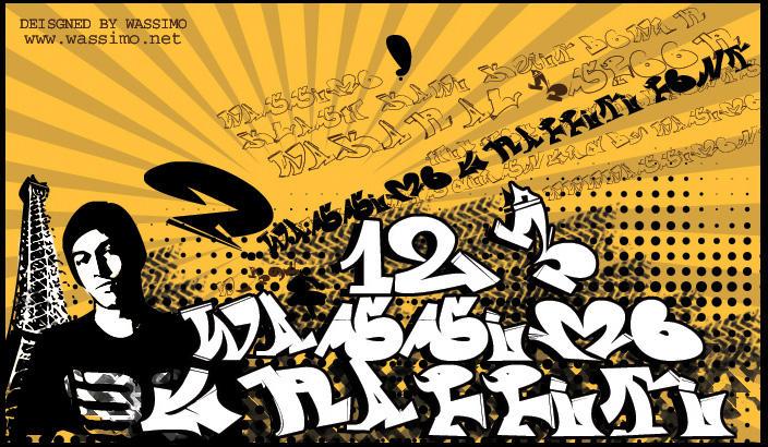 wassimo graffiti font by wassimo-net