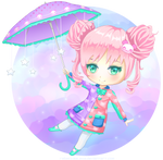 Chibi Adopt 6: The Pink Panda Girl [CLOSED]
