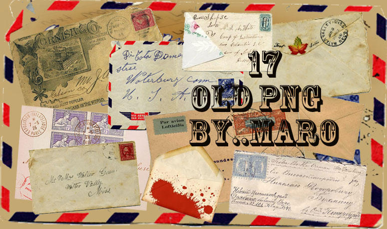 17 PNG old envelope by miralkhan