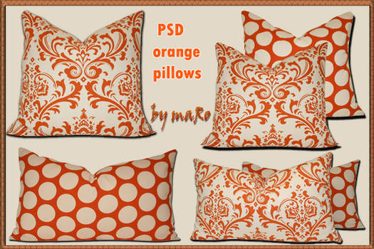 PSD orange pillows