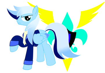 Lt. Eon Strombrakerr Drive of the Wonderbolts by BluDraconoid