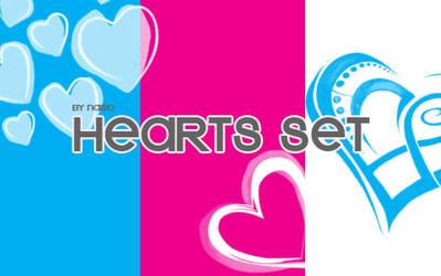 Hearts brush set
