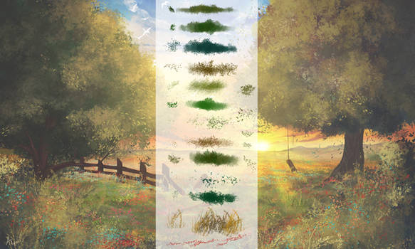 Vegetation Brushes for Photoshop