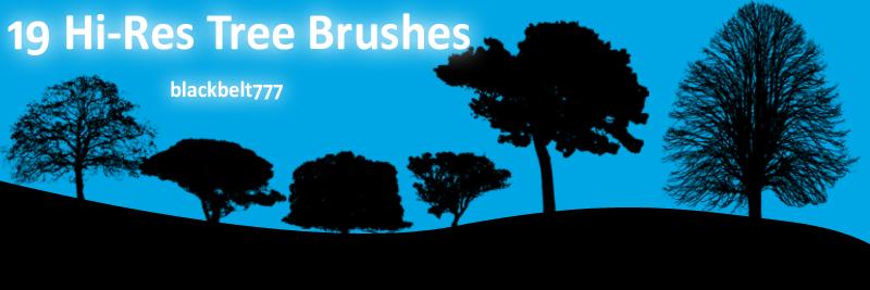 Hi-Res Tree Brushes