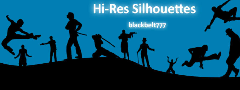 Hi-Res Male Silhouette Brushes by blackbelt777