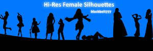 Hi-Res Female Silhouette Brush