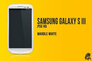 Samsung Galaxy S III [psd] [Marble White] by danishprakash