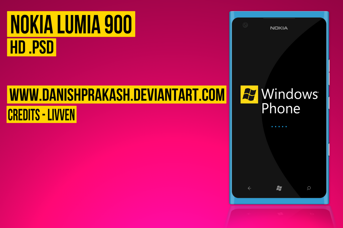 Nokia Lumia 900 [psd] by danishprakash