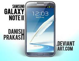 Samsung Galaxy Note II [Blue] [psd] by danishprakash