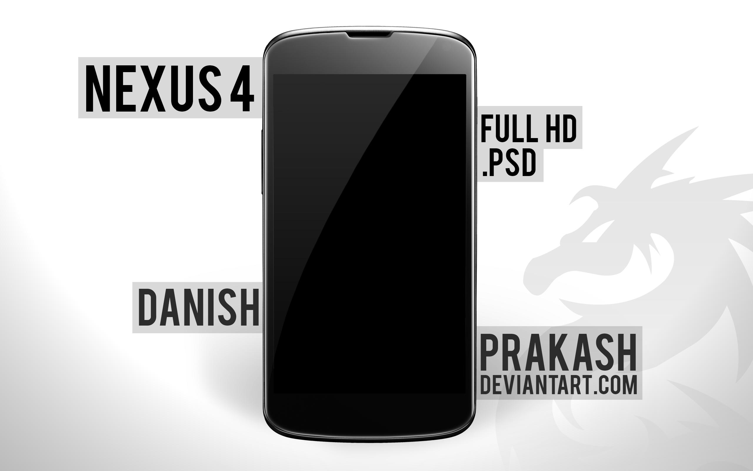 LG Nexus 4 PSD by danishprakash
