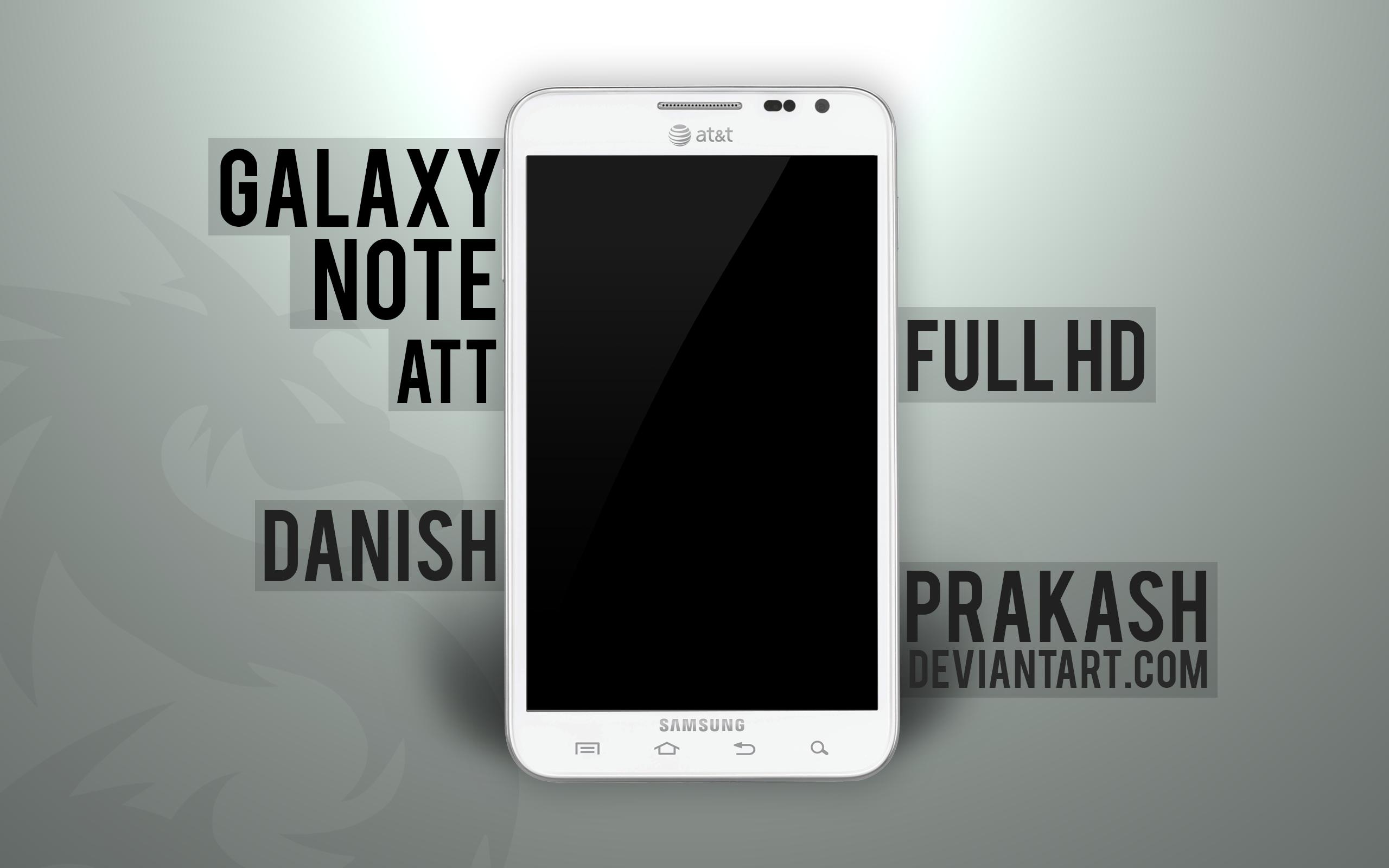 Samsung Galaxy Note ATT [white] [psd] by danishprakash