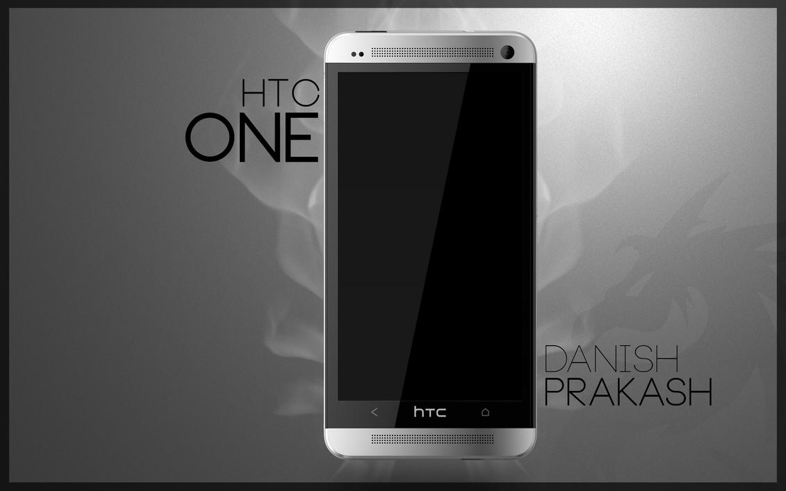 HTC One white PSD by danishprakash