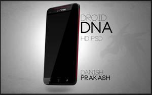 HTC Droid DNA slant [psd] by danishprakash