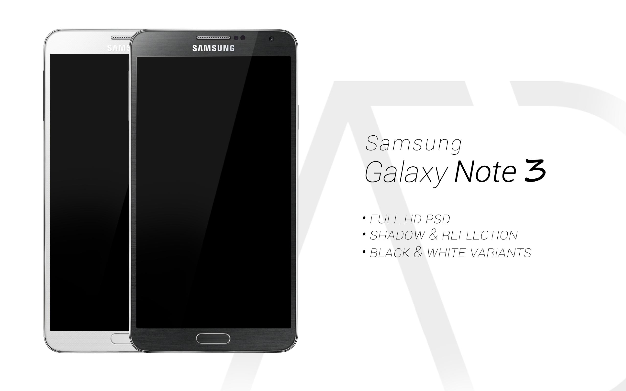 Samsung Galaxy Note 3 PSD Black White