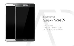 Samsung Galaxy Note 3 PSD Black White by danishprakash