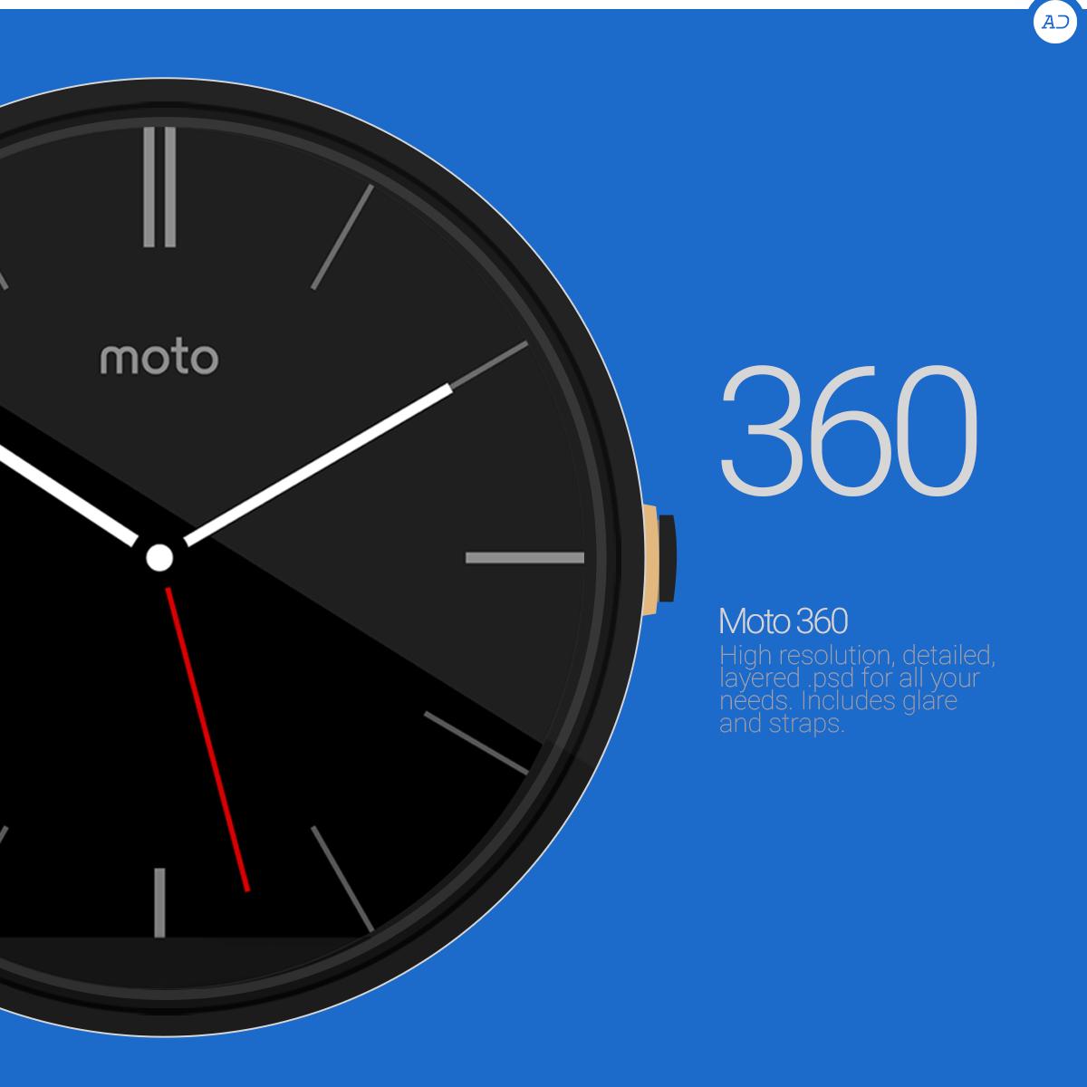 Moto 360 : PSD by danishprakash