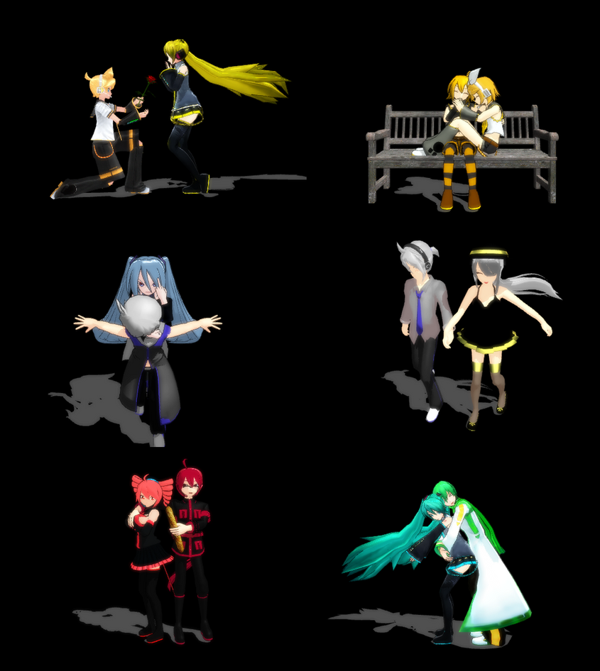 MMD Poses favourites by SnowLillyYukino on DeviantArt