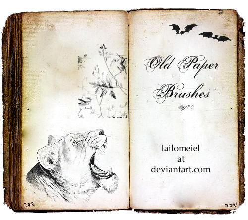 Old Paper Brushes V By Lailomeiel On DeviantArt
