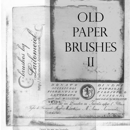 Old Paper Brushes 2 By Lailomeiel On DeviantArt