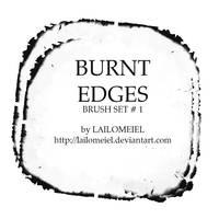 Burnt Edges Brushes by lailomeiel