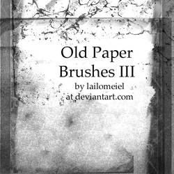 Old Paper Brushes III by lailomeiel