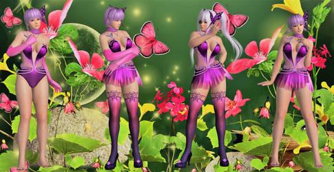 DOAXVV Ayane - SSR Papillon Dance Meshmod by YiShinLong