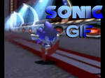 GIF Sonic Running in the 90's Dreamcast Style by ClassicSonicSatAm